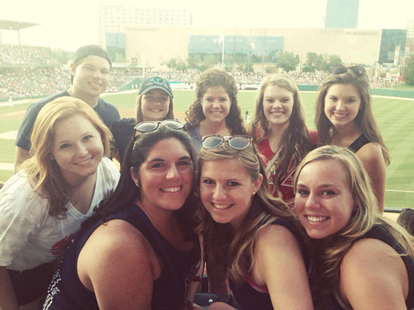 Sisters at indians game