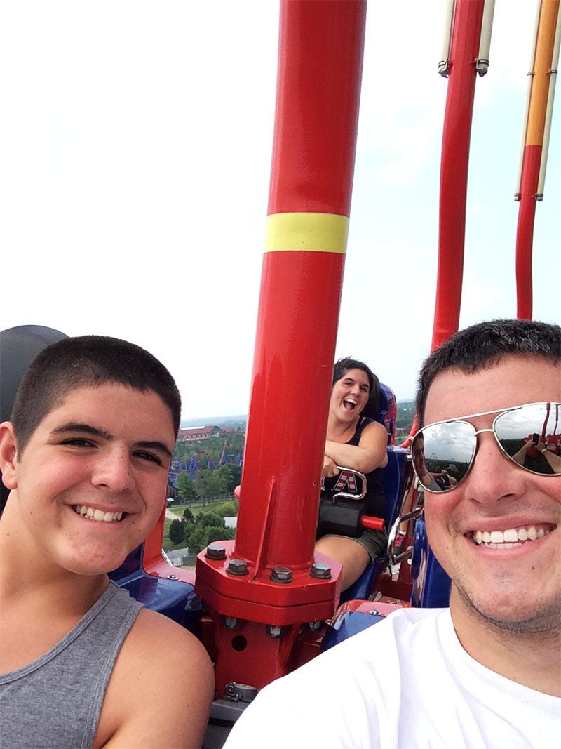 Coaster selfie