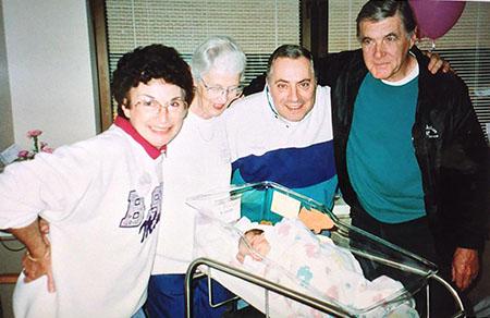 Grandparents on birth day