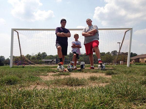 G c and b soccer goal