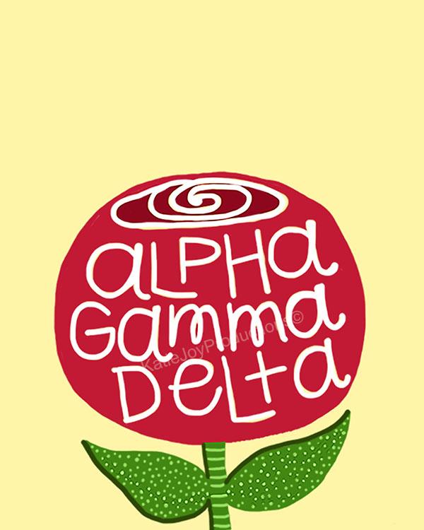 Alpha gamma delta rose copy
