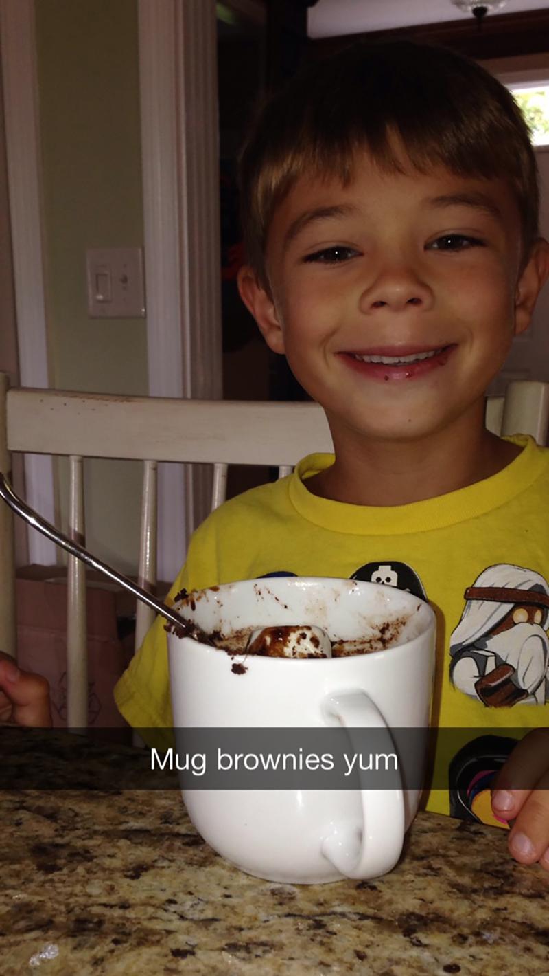 Mug brownies